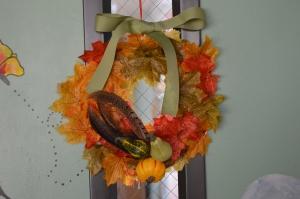 We made fall wreaths!